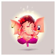 Ganesha - Kirti (Lord of Music) Baby Ganesha, Baby Krishna, Ganesha Art, Krishna Art, Ganesha Drawing, Ganesh Idol, Whatsapp Dp, Bal Hanuman, Ganesh Lord