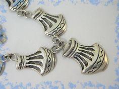 Pueblo Pottery Sterling Silver Necklace  A by FindMeTreasures, $249.00