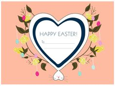 Two Brunettes - Two Brunettes - Free Download: Oversized Easter Basket Tags