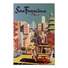 Vintage Travel Poster, San Francisco