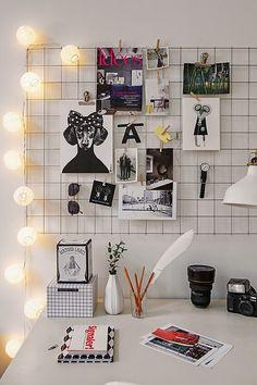 Tablero para fotos + Luz