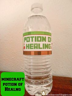 Minecraft Birthday Party ... Potion of Healing (Water Bottle Wraps)