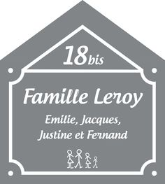 plaque de maison maill e personnaliser plaque maison plaques maill es personnalis es. Black Bedroom Furniture Sets. Home Design Ideas