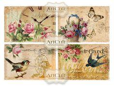 VICTORIAN NOSTALGIA  Digital Collage Sheet Printable by ArtCult, $4.99