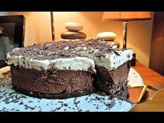 Μία τούρτα που θα σας εντυπωσιάσει! Υπέροχη σοκολατένια τούρτα με βάση γκοφρέτας και βελούδινη κρέμα! Δείτε όλες τις λεπτομέρειες στο site! Cookbook Recipes, Cooking Recipes, Party Desserts, Greek Recipes, Custard, Diy And Crafts, Cheesecake, Food And Drink, Sweets