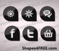 Free Shapes for Photoshop:  70 Corneristic Vector Icons for Web Designers