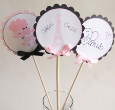 Paris Baby Shower   Paris Baby Shower Centerpiece by SprinklesPaperieCo on Etsy