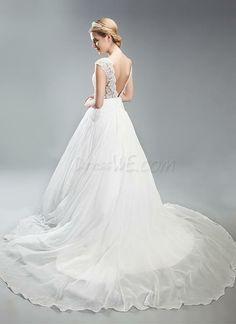 $163.99 Dresswe.comサプライ品エレガントなラインのストラップ裁判所の列車のアップリケのウェディングドレス