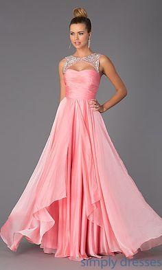 Floor Length Sleeveless Prom Dress at SimplyDresses.com