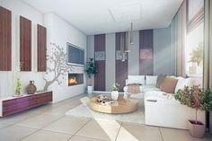 Proiect superb de casa cu mansarda in suprafata de 90 mp! Small House Design, Design Case, Living Room, Furniture, Home Decor, Divider, Interiors, Mirror, Bathroom