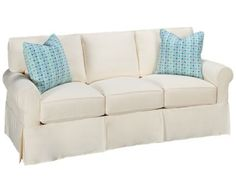 Rowe-Nantucket-Nantucket Sofa with Slipcover (also available in Sunbrella) - Jordan's Furniture Vintage Country, Sleeper Sofa, Queen Beds, Nantucket, Slipcovers, Home Furnishings, Love Seat, Living Room, Furniture