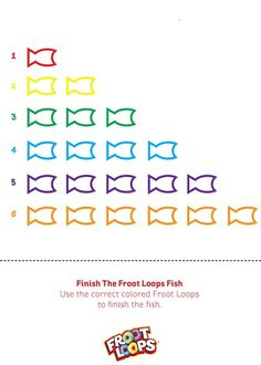 Finish the Froot Loops Fish Busy Bag helps your child practice color matching