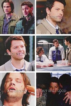 This IS my family... I get really sad thinking about how Dean and Sam suffered through SO much and still have death, pain, and sorrow ahead in their lives.
