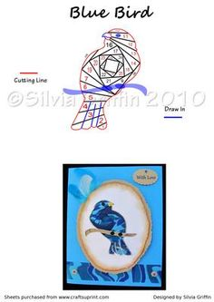 Blue Bird #irisfolding visit me at My Personal blog: http://stampingwithbibiana.blogspot.com/