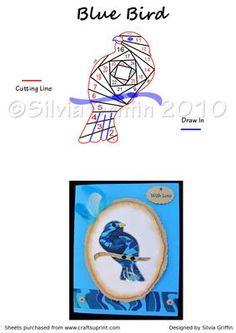 Blue Bird #irisfolding  visit me at My Personal blog: http://stampingwithbibiana.blogspot.com/