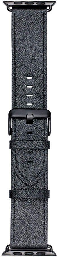 VogueStrap Smart Buddie Platinum Black Saffiano Leather Strap for 42mm Apple Watch
