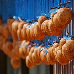 From @japan_gram -  Hoshi-Kaki / dried Japanese persimmons #Regrann