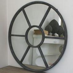 Miroir Oeil de Boeuf rond Pomax Objet Zinc