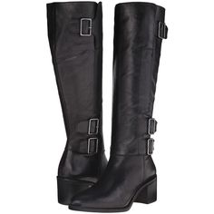 Franco Sarto Elate (Black Wax Goat Leather) Women's Dress Zip Boots ($90)