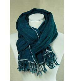 Man's Scarf  loon , Cotton,  Handmade