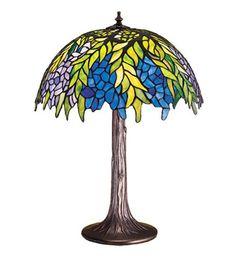 "23""H Tiffany Honey Locust Floral Table Lamp"