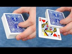 Magic Tricks Revealed, Magic Card Tricks, Cool Magic Tricks, Magic Illusions, Simple Life Hacks, Projects To Try, Playing Cards, The Incredibles, Craft Ideas
