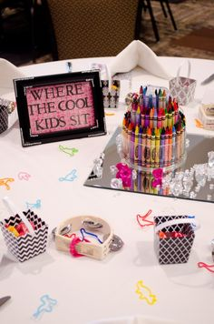 De Kam - Van Den Top Reception :: Kids Table