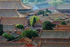 Image des toits de la Cité Interdite de Pekin