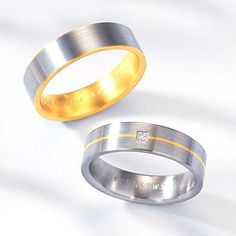 14K Gold Two Tone Mens Wedding Band Thediamondstore Products Rings 14k 7C 5989 7