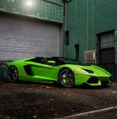 'The Hulk' Badass Lamborghini Aventador Roadster. Hit 'like' today. We know we have! #lambo #spon