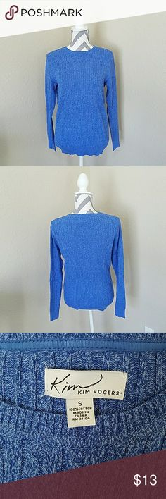 Pretty Blue Sweater Wore maybe twice. Soft material. Comfy. No stains or tears. Excellent condition! Kim Rogers Sweaters