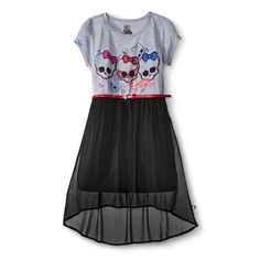 Monster Chic Girls' Hi/Lo T-Shirt Dress