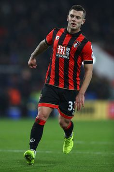 Jack Wilshere Photos - Jack Wilshere of Bournemouth during the Premier League match between AFC Bournemouth and Manchester City at the Vitality Stadium on February 2017 in Bournemouth, England. - AFC Bournemouth v Manchester City - Premier League Bournemouth England, Afc Bournemouth, World Trade Center Attack, Jack Wilshere, February 13, Premier League Matches, Manchester City, Squad, Manga