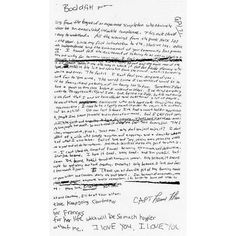 kurt cobain's suicide note ❤ liked on Polyvore featuring text, words, backgrounds, quotes, fillers, texture, phrase and saying