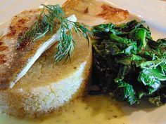 Zander auf Quinoa mit Blattspinat und Senfsauce, ein leckeres Rezept aus der Kategorie Gemüse.