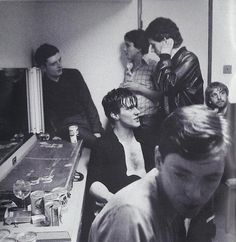 Joy Division-with Ian in the corner looking melancholy and Peter on the other side pondering