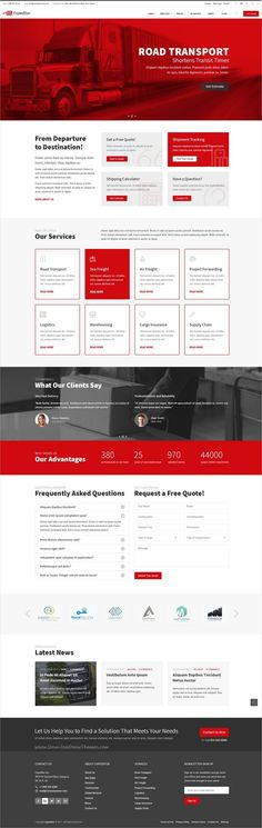 Expeditor is clean and modern design PSD template for freight, #warehouse , logistics and #transportation company website with 36 layred download now..