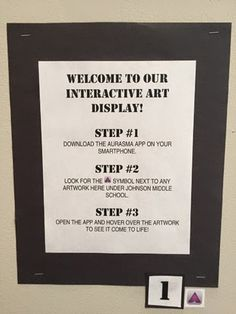 come to the Art side: Friday Fun: Art Show & Augmented Reality! Interactive Art, Art Classroom, Classroom Ideas, Teaching Art, Teaching Ideas, Preschool Art, Art Lesson Plans, Art School, School Ideas