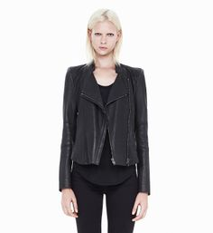WITHER FITTED LEATHER JACKET ( HELMUT LANG)