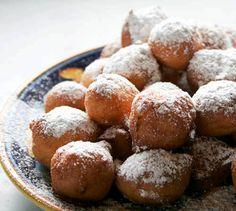 Ricotta Fritters...Yum   powdered sugar or honey and vanilla bean whipped cream