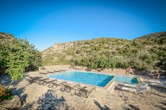Hotel Facilities in Axos Rethymno Crete Enagron Ecotourism Village Swimming Pool