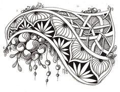 zentangle Challenge by Mariët Dronten (Studio ML) Doodles Zentangles, Tangle Doodle, Zentangle Drawings, Zen Doodle, Doodle Drawings, Doodle Art, Zantangle Art, Zen Art, Doodle Patterns