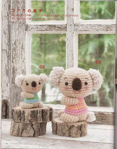 Items similar to Amigurumi Soft Toys Japanese eBook Crochet Soft Toys Pattern,Amigurumi Koala,Amigurumi Monkey,Amigurumi Plushie Pattern on Etsy Crochet Amigurumi, Crochet Bear, Knit Or Crochet, Cute Crochet, Amigurumi Patterns, Amigurumi Doll, Crochet Animals, Crochet Dolls, Crochet Patterns