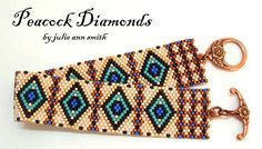 Loom Bracelet Patterns, Bead Loom Bracelets, Peyote Patterns, Beading Needles, Loom Beading, Bead Crochet Rope, Diy Jewelry Making, Beaded Bracelets, Loom Bracelets