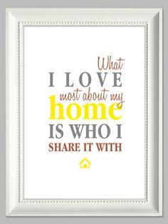 What I Love Most About My Home | Artprint von farbflut - ArtPrints auf DaWanda.com