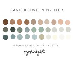 Sand between my toes color palette / procreate / swatches /   Etsy Mandala Art, Color Palate, Neutral Colour Palette, Spring Color Palette, Colour Schemes, Color Combos, Ipad Pro, Sunrise Colors, Carmel By The Sea