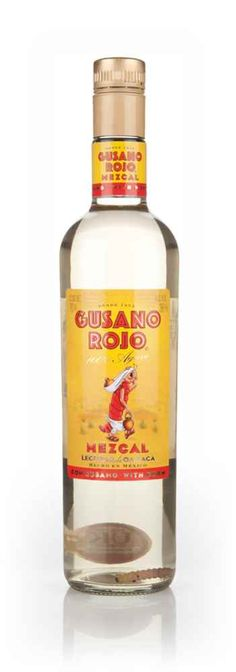"""Gusano Rojo Mezcal (With Worm) - Master of Malt. #Mezcal from #Oaxaca, complete with a worm (which the Mezcal has been named after - """"#Gusano Rojo"""" means """"#Red Worm"""") #mescal #Mexican alcohol #Mexico #spirits #alcohol #drinks #bars #man caves"""