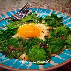 Warm Bacon Breakfast Salad - 4 WW Smart Points