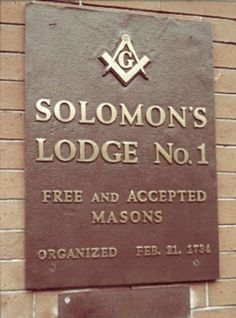 Solomon's Lodge No.1