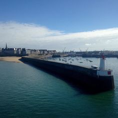 St Malo old town from the ferry!